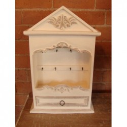 Key Cupboard - White Shabby...
