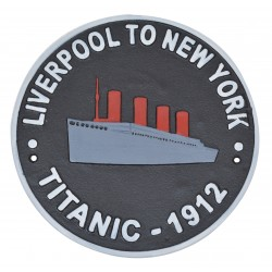 Cast Iron Titanic Wall Plaque