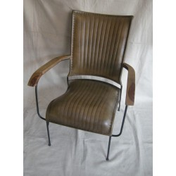 Sage Leather Chair