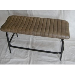 Sage Leather Bench