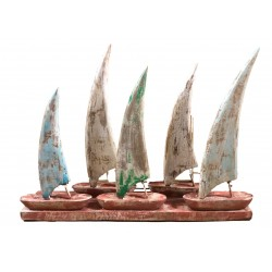 Wooden Boats on Stand