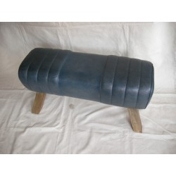 Blue Leather Bench Pommel...