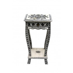 Bone Inlaid Side Table with...