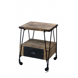 Black Smiths End Table with...