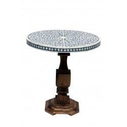 Bone Inlaid Round Table...