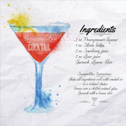 Cosmopolitan Cocktail...