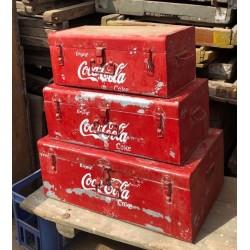 Set of 3 Coca Cola Trunks