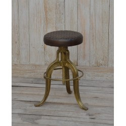 Industrial Iron Stool with...