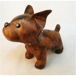 Faux Leather Standing Dog 10""