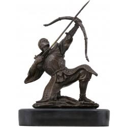 Bronze and Marble Japanese Samurai Archer