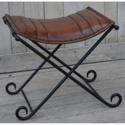 Iron Folding Stool with...