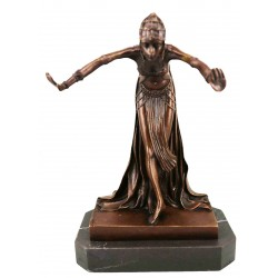 Art Deco style Bronze lady 'The Assyrian Dancer'