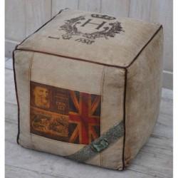 Canvas Square Cubed Pouffe...