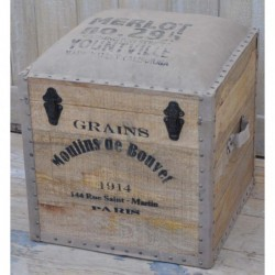 Wooden Trunk with Canvas...