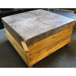 Grey Leather coffee table /...