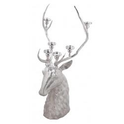 Stag head Candelabra  - Silver Nickel