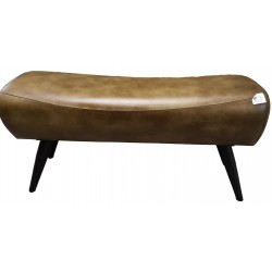 Brown Leather Bench - Pommel Horse style