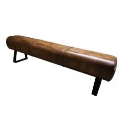 Leather Dining bench - pommel horse style - 180 cm