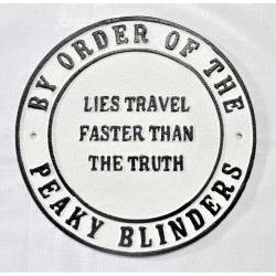 Cast Iron Peaky Blinders Sign - Lies Travel