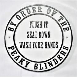 Cast Iron Peaky Blinders sign -  Flush it