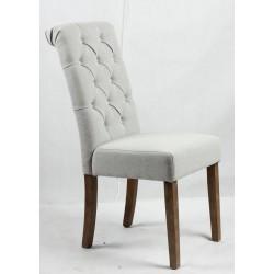 Button Back Chair - Light Brown legs