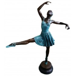 Large Bronze sculpture of a Ballerina - 145 cm tall