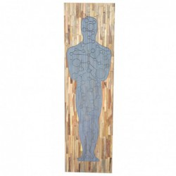 Mango Wood Wall Panel 'Oscar'