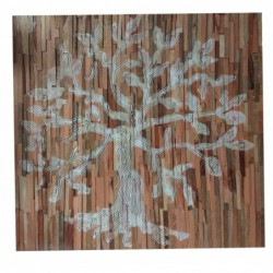 Mango Wood Wall Panel 'Tree...