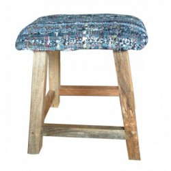 Mango Wood Stool with...