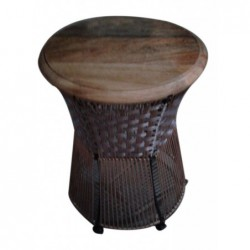 Stool - Mango Wood. Metal...