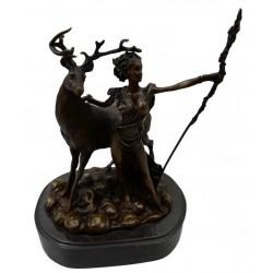 Bronze sculpture of Diana the Huntress - Goddess of the hunt