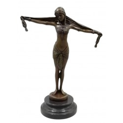 Art Deco Bronze Lady - Scarf Dancer