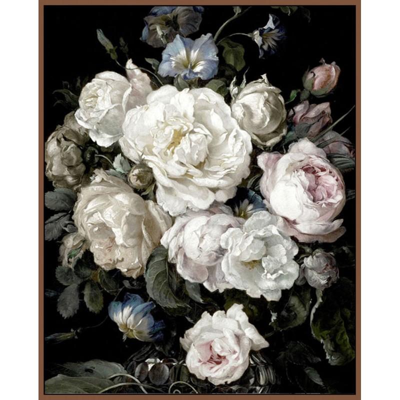 Canvas wall art - Vase of flowers  100 cm x 150 cm