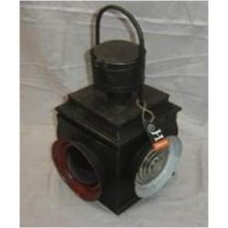 Vintage metal railway candle lantern / lamp