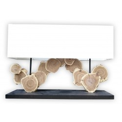 Cut wooden segment lamp