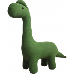 Knitted animal stool in the form of a Dinosaur