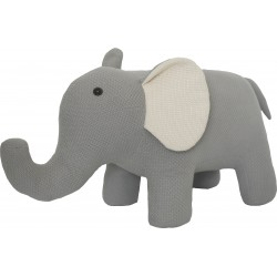 Knitted animal stool in the form of an Elephant