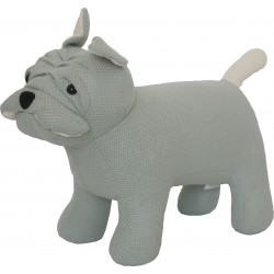 Knitted animal stool in the form of a Dog
