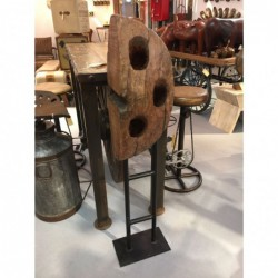 Vintage Wooden Wine Rack on...