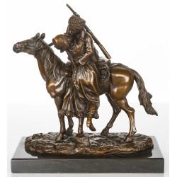 Bronze Sculpture - The Kiss - Cossack on Horse