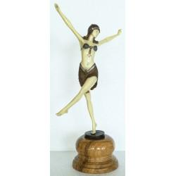 Art Deco Bronze - Dancer of Palmyra - Hand Painted Finish