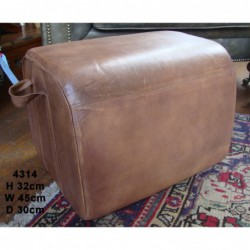 Leather Stool - Twin Handles