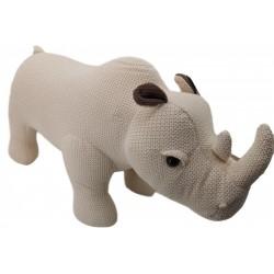 Knitted Rhino Stool