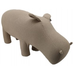 Large knitted animal stool in the form of a Hippo