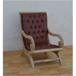 Leather Armchair with...