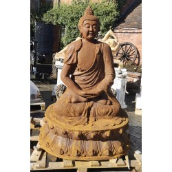 Large Cast Iron Sculpture - Seated Buddha