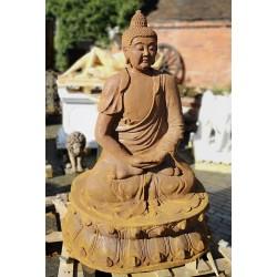 Large Cast Iron Sculpture - Seated Buddha