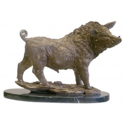 Wild Boar - Hot Cast Bronze - Solid Marble Base