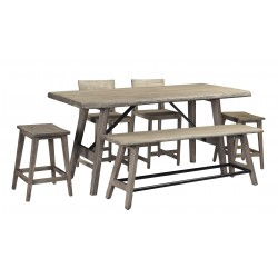 Contemporary SOlid Acacia Wood Dining Set - Loft