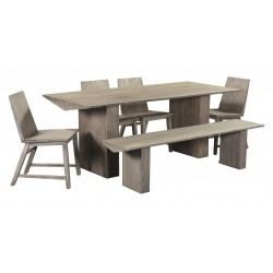 Contemporary Solid Acacia Wood Dining Table Set - Giza - 200 cm